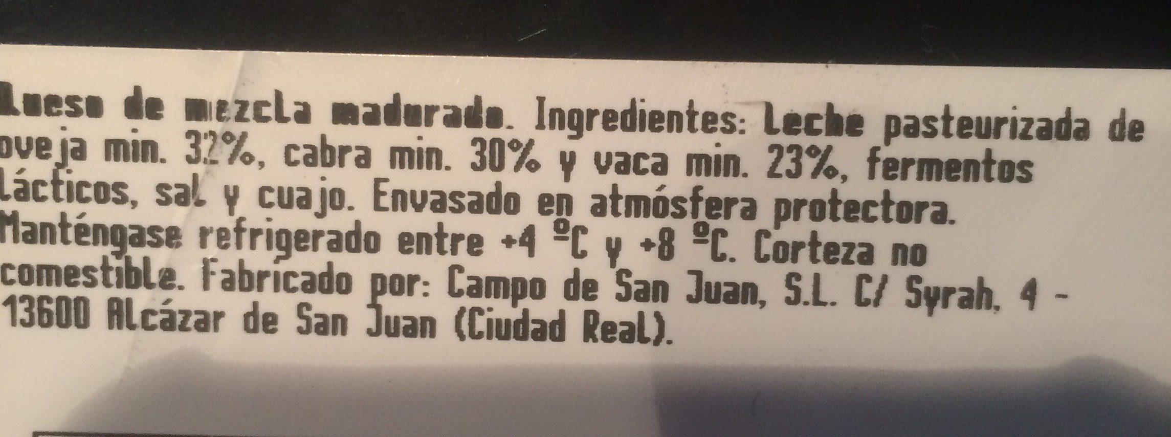 GRAN RESERVA - Ingredients