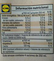 Bebida de Avena - Nutrition facts