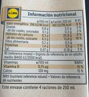 Bebida de avena calcio - Nutrition facts - es