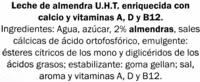 Leche de Almendra Calcio - Ingredientes - es