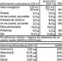 Leche de almendras - Informations nutritionnelles