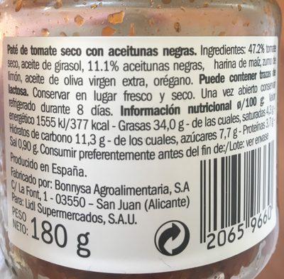 Pâté de tomates sèches aceitunas negras - 7
