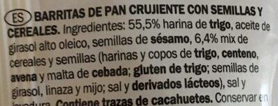 Cereales - Ingredients - es