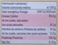 Sésamo tostado - Informació nutricional