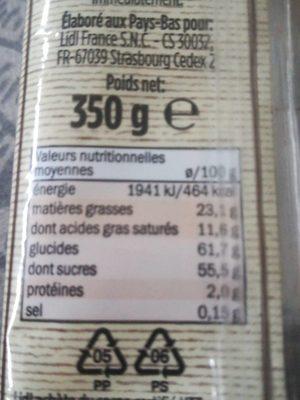 Reuze mergpijpen - Informations nutritionnelles