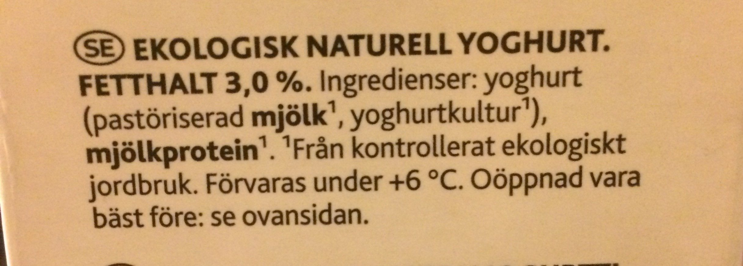 Lunnon jogurtti - Ingrédients