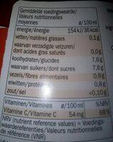 Orange Fraise - Voedingswaarden - fr