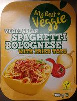 My Best Veggie Vegetarian Spaghetti Bolognese with fried Tofu - Produit