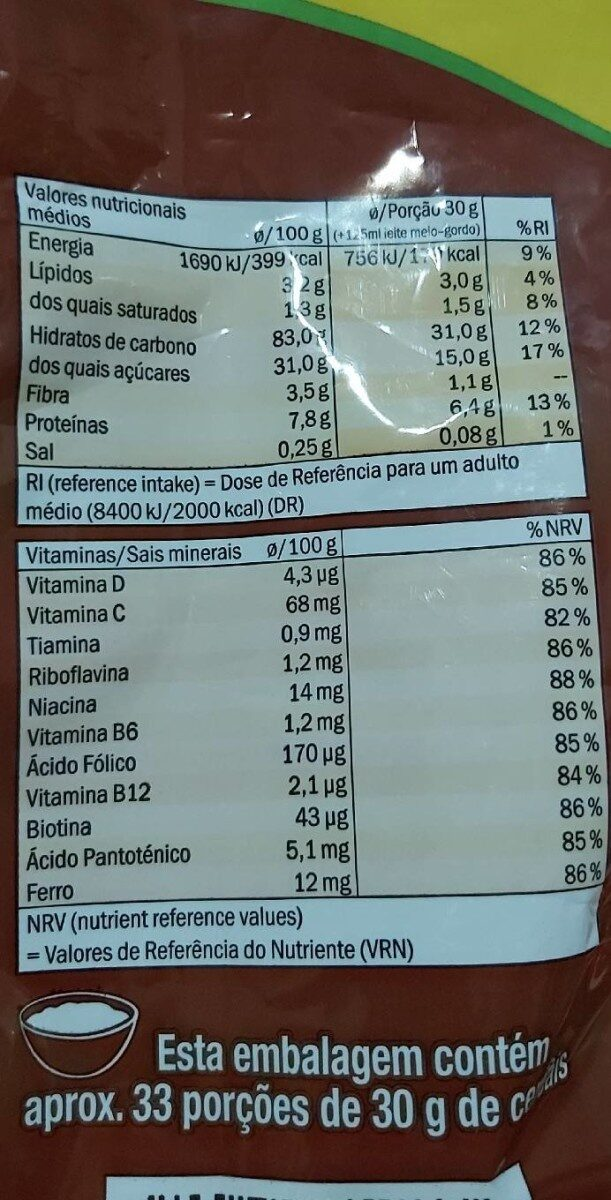 Chocoflakes Goody - Voedingswaarden - nl