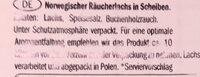 Oceansea Norwegischer Räucherlachs - Ingredientes - de