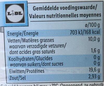 Oceansea Norwegischer Räucherlachs - Información nutricional - de