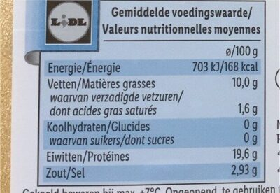 Norwegischer Räucherlachs - Valori nutrizionali - fr