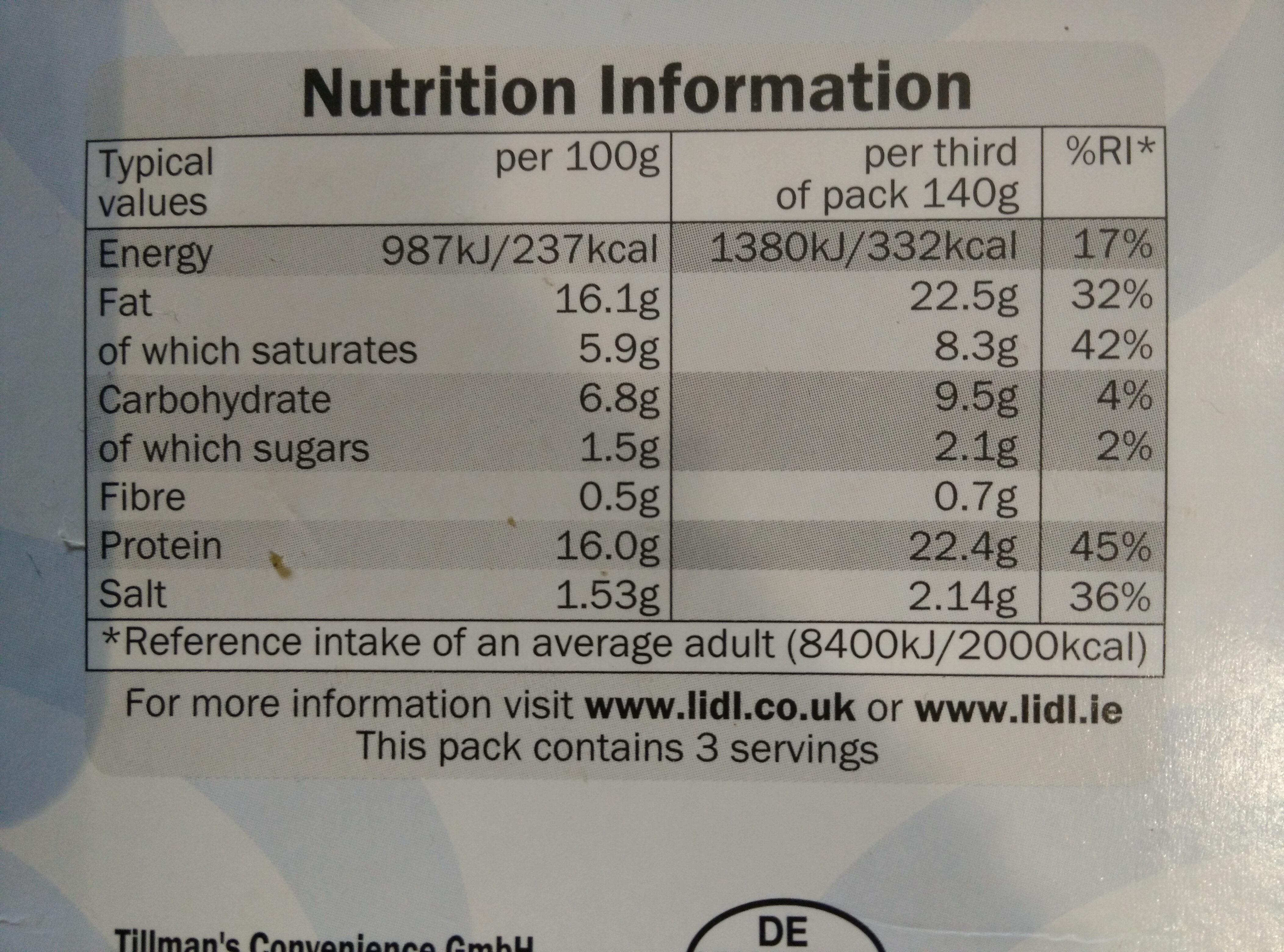 Kalamaki pork & beef skewers - Informations nutritionnelles