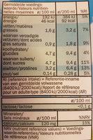 Lait Demi Ecreme Sans Lactose - Nutrition facts - fr