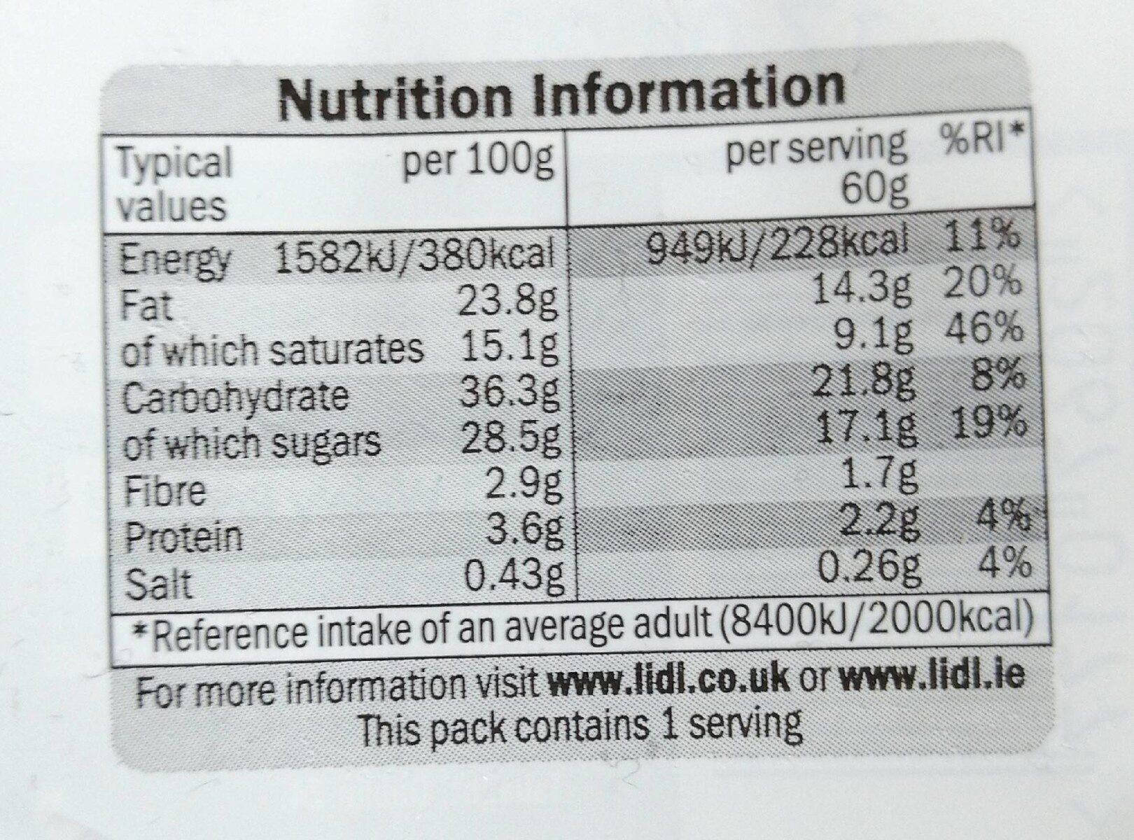 Mini Dessert - Informations nutritionnelles - en