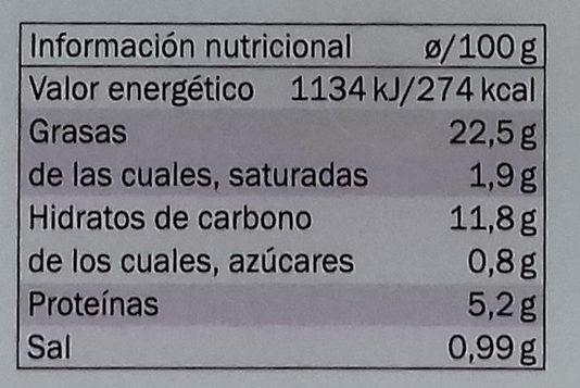 Hummus clásico - Informations nutritionnelles - es