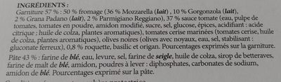 4 formaggi - Ainesosat - fr