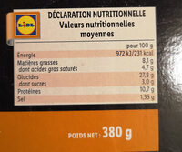 4 formaggi - Informations nutritionnelles - fr