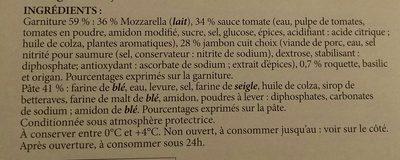 Pizza jambon fromage - Ainesosat - fr