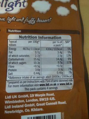 Heavenly Delight - Informations nutritionnelles - en