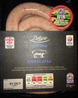 10 pork chipolatas - Product