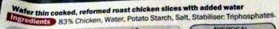wafer thin roast chicken - Ingredients