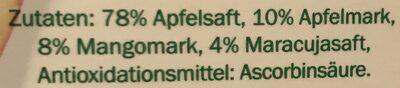Direktsaft Apfel-Mango-Maracuja - Inhaltsstoffe