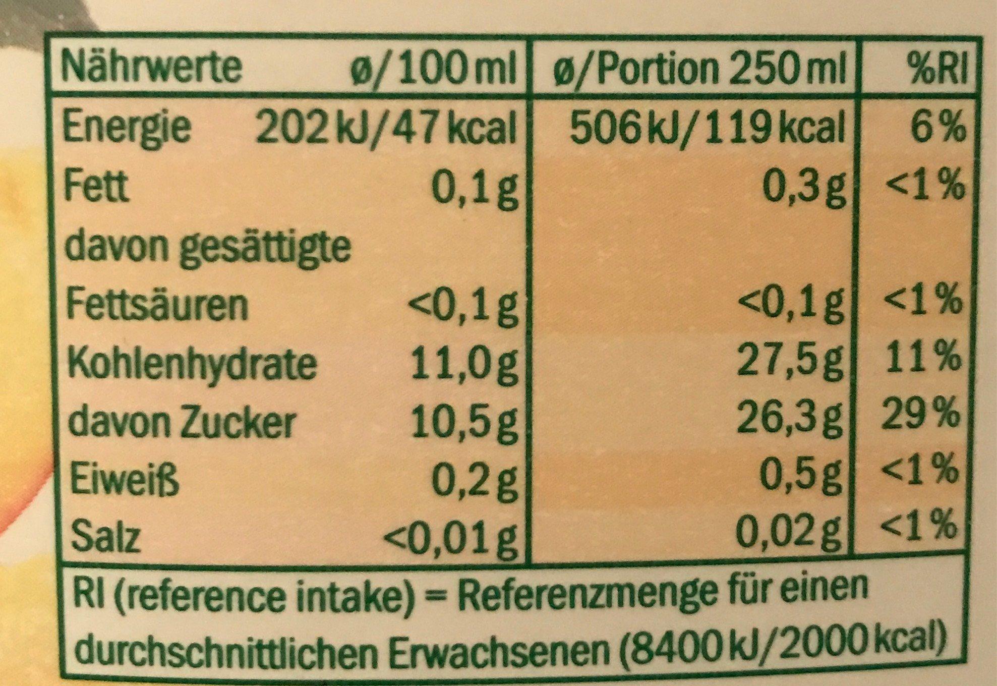 Solevita - Informations nutritionnelles