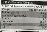 Rôti de porc aux herbes - Nutrition facts