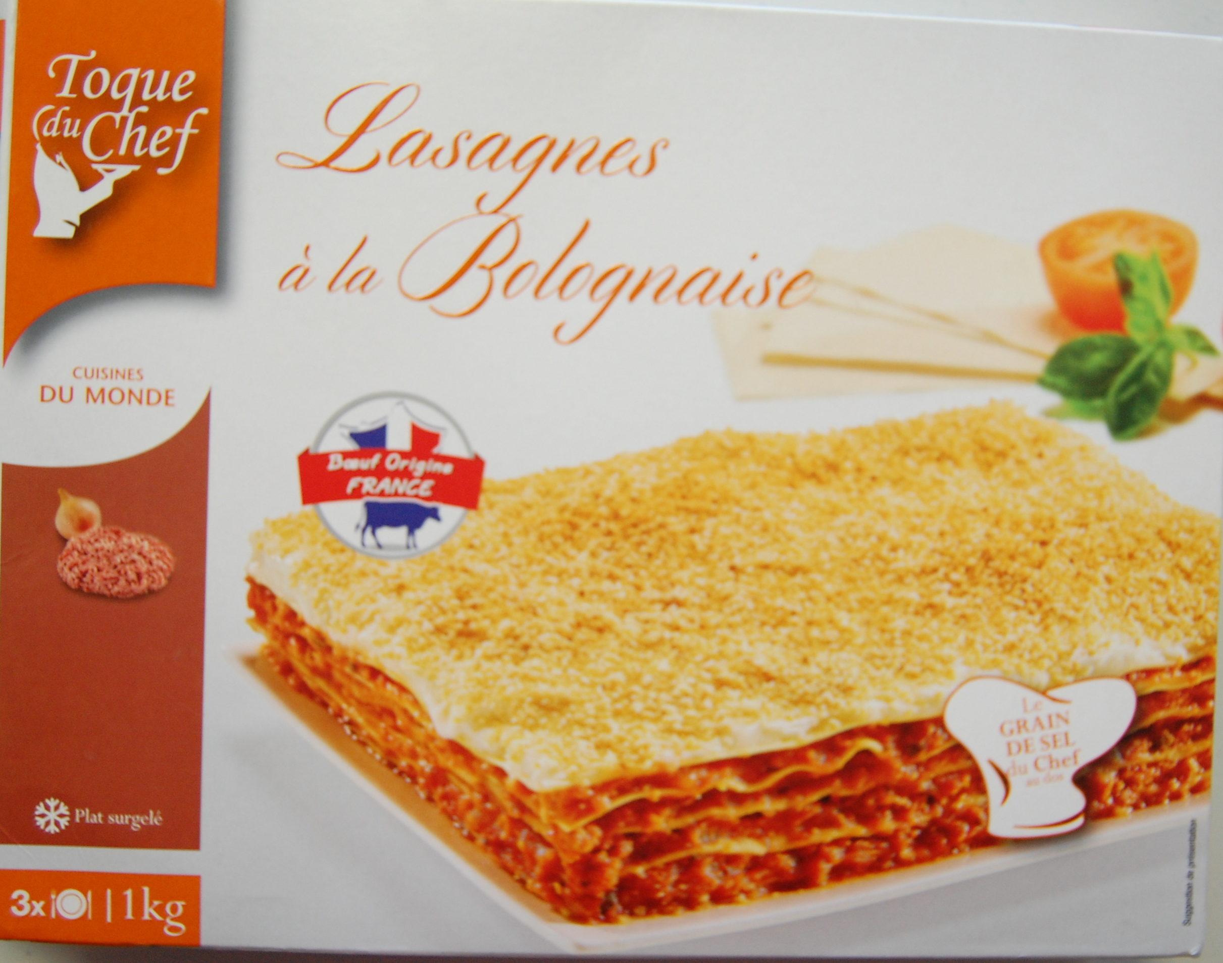 lasagnes à la bolognaise - toque du chef - 1 kg