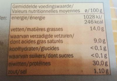 Etoile D'or Légére - Voedingswaarden - fr