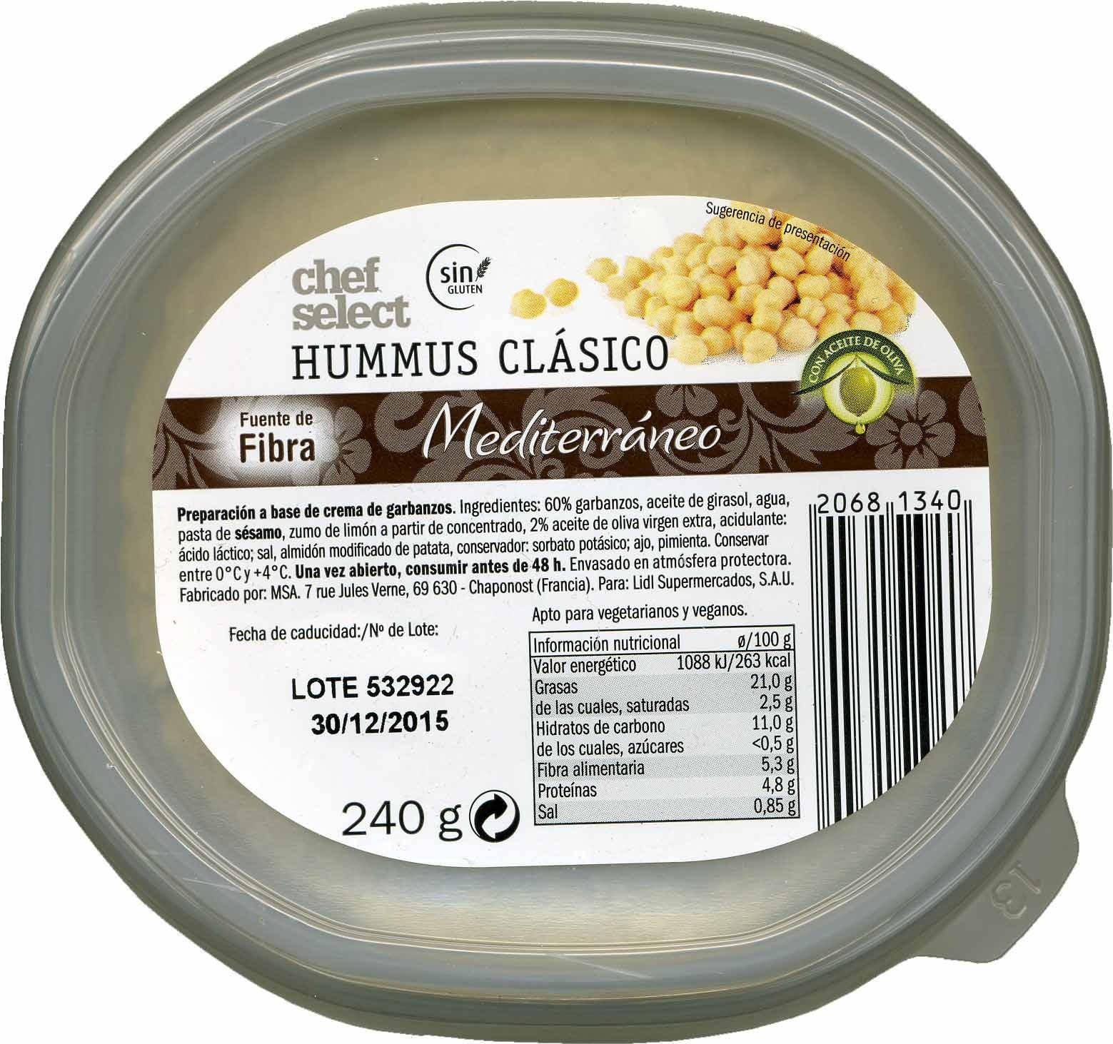 Hummus clásico - Producto - es