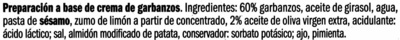 Hummus clásico - Ingredientes - es