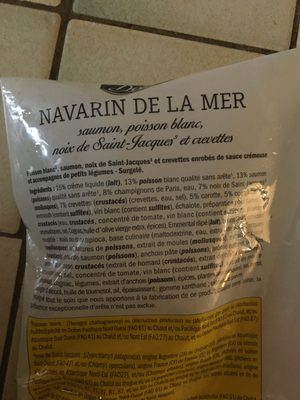 Navarin de la mer - Ingrédients - fr