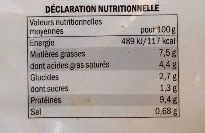 Navarin de la mer - Informations nutritionnelles - fr