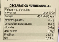 Sauté de Kangourou mariné au vin rouge et épices - Voedingswaarden - fr