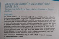 Lasagnes aux 2 Saumons - Ingrédients - fr