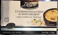 2 Cassolettes aux Noix de Saint-Jacques sauce crémée au Sauternes - Produit