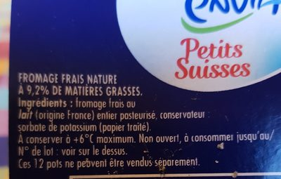 Petits fromages frais - Ingredients - fr