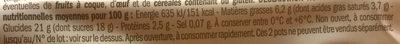 Yaourt au lait entier sur lit de Marrons - Informations nutritionnelles