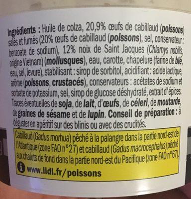 Tarama de Saint Jacques - Ingredients