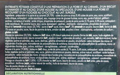 Gâteau Surgelé Poire-Speculoos - Ingrédients