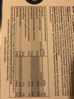Croustillant - Informations nutritionnelles