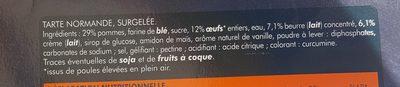 Tarte à la Normande - Ingredients - fr