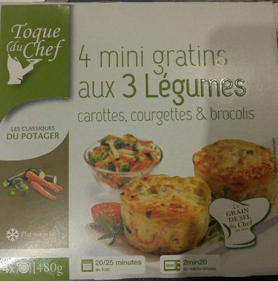 Mini Gratins aux 3 Légumes - Produkt - fr