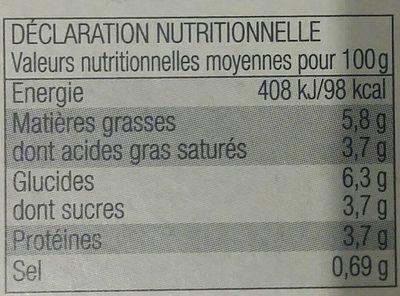 Mini Gratins aux 3 Légumes - Nährwertangaben - fr