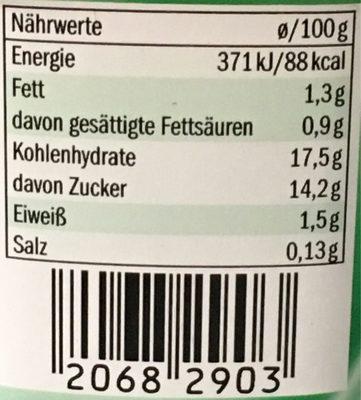 Milbona Pudding Waldmeister - Voedingswaarden - de