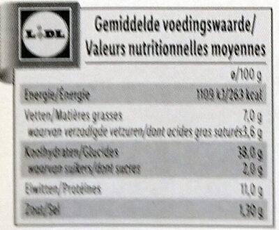 Deluxe Lunette Mit Kaiserhumma Und Gemeinden - Voedingswaarden - fr