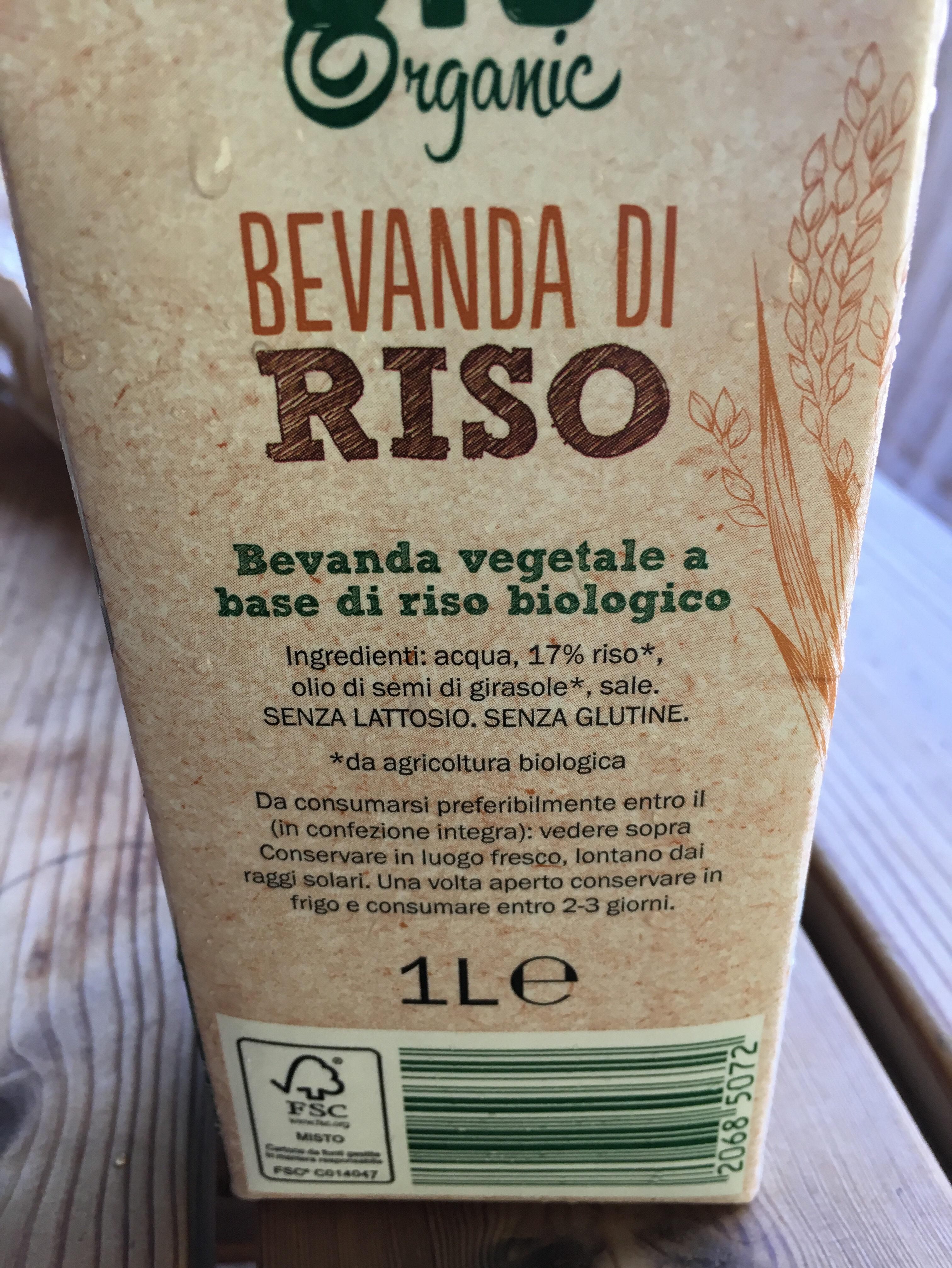 BIO ORGANIC RICE DRINK - Ingrediënten