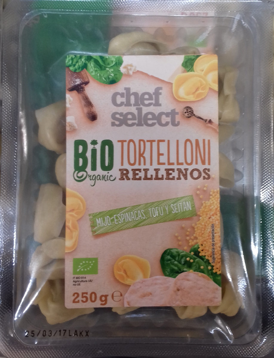 Tortelloni rellenos Mijo, espinacas, tofu y seitán - Produit - es